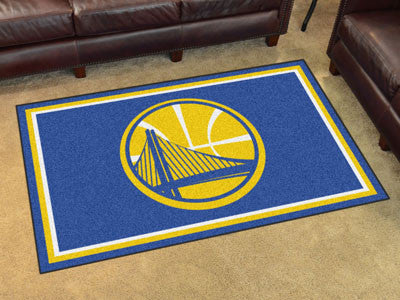 NBA Officially licensed products Golden State Warriors 4'x6' Rug Show off your team pride in a big way! 4'x6' ultra plush ar