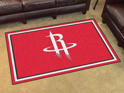 NBA Officially licensed products Houston Rockets 4'x6' Rug Show off your team pride in a big way! 4'x6' ultra plush area rug