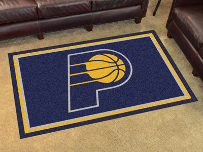 NBA Officially licensed products Indiana Pacers 4'x6' Rug Show off your team pride in a big way! 4'x6' ultra plush area rugs