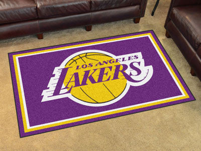 NBA Officially licensed products Los Angeles Lakers 4'x6' Rug Show off your team pride in a big way! 4'x6' ultra plush area