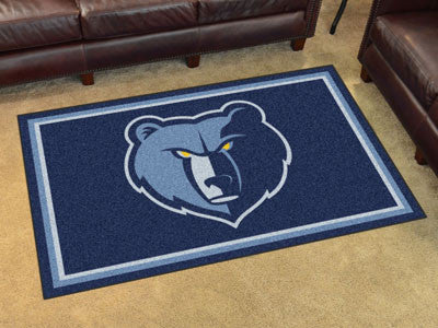 NBA Officially licensed products Memphis Grizzlies 4'x6' Rug Show off your team pride in a big way! 4'x6' ultra plush area r