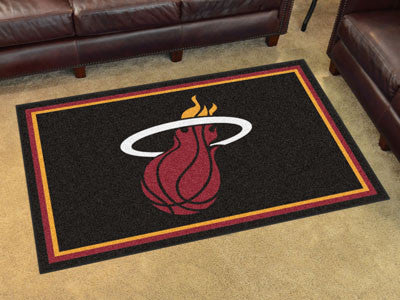 NBA Officially licensed products Miami Heat 4'x6' Rug Show off your team pride in a big way! 4'x6' ultra plush area rugs won