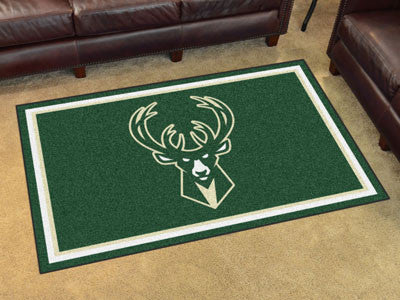NBA Officially licensed products Milwaukee Bucks 4'x6' Rug Show off your team pride in a big way! 4'x6' ultra plush area rug