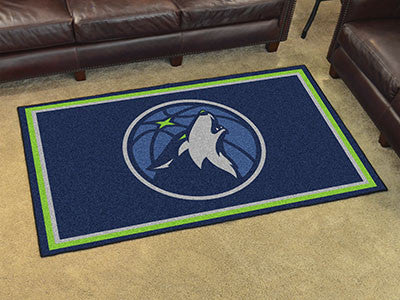NBA Officially licensed products Minnesota Timberwolves 4'x6' Rug Show off your team pride in a big way! 4'x6' ultra plush a