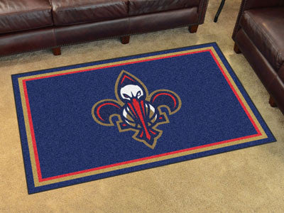 NBA Officially licensed products New Orleans Pelicans 4'x6' Rug Show off your team pride in a big way! 4'x6' ultra plush are