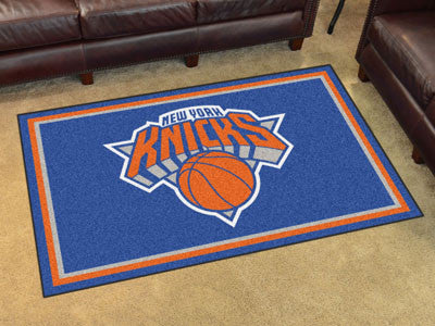 NBA Officially licensed products New York Knicks 4'x6' Rug Show off your team pride in a big way! 4'x6' ultra plush area rug