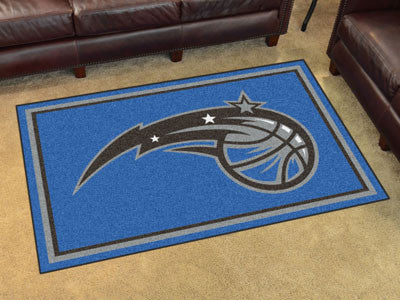 NBA Officially licensed products Orlando Magic 4'x6' Rug Show off your team pride in a big way! 4'x6' ultra plush area rugs