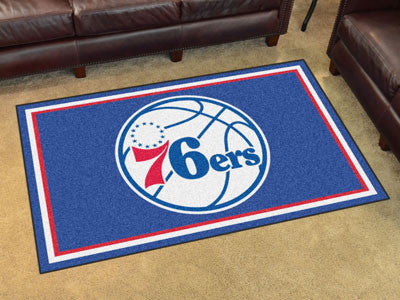 NBA Officially licensed products Philadelphia 76ers 4'x6' Rug Show off your team pride in a big way! 4'x6' ultra plush area