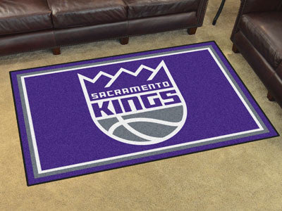 NBA Officially licensed products Sacramento Kings 4'x6' Rug Show off your team pride in a big way! 4'x6' ultra plush area ru