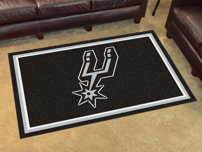 NBA Officially licensed products San Antonio Spurs 4'x6' Rug Show off your team pride in a big way! 4'x6' ultra plush area r