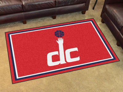 NBA Officially licensed products Washington Wizards 4'x6' Rug Show off your team pride in a big way! 4'x6' ultra plush area