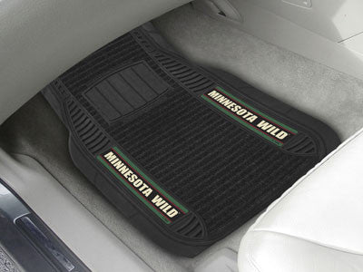 "NHL Officially licensed products Minnesota Wild Deluxe Mat 21""x27"" Deluxe Car Mats are perfect for anyone who is serious abo"