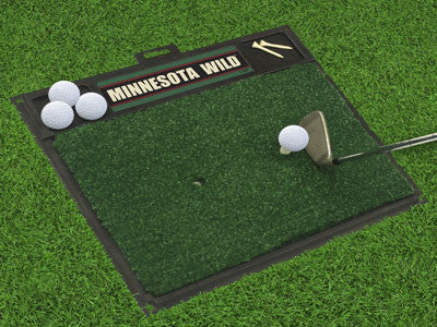 "NHL Officially licensed products Minnesota Wild Golf Hitting Mat 20"" x 17"" Work on your backswing while showing off your tea"
