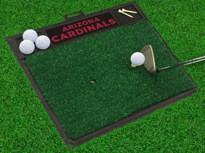 "NFL Officially licensed products Arizona Cardinals Golf Hitting Mat 20"" x 17"" Work on your backswing while showing off your"