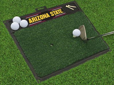 "NCAA Officially licensed Arizona State University Golf Hitting Mat 20"" x 17"" Work on your backswing while showing off your t"