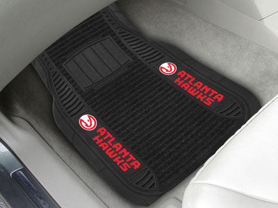"NBA Officially licensed products Atlanta Hawks Deluxe Mat 21""x27"" Deluxe Car Mats are perfect for anyone who is serious abou"