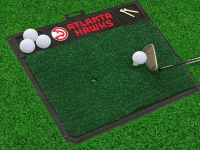 "NBA Officially licensed products Atlanta Hawks Golf Hitting Mat 20"" x 17"" Work on your backswing while showing off your team"
