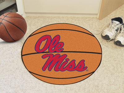 "NCAA Officially licensed University of Mississippi (Ole Miss) Basketball Mat 27"" diameter Protect your floor in style and sh"