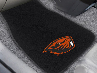 "NCAA Officially licensed Oregon State University 2-pc Embroidered Car Mat Set 17""x25.5"" Protect the interior of your vehicle"