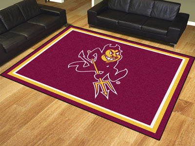 "NCAA Officially licensed Arizona State University 8x10 Rug 87""x117"" Show off your team pride in a big way! 8'x10' ultra plus"