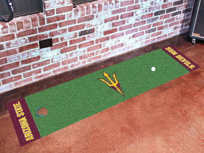 "NCAA Officially licensed Arizona State University Putting Green Mat 18""x72"" Become a pro and perfect your short game with Go"