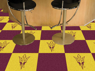 "NCAA Officially licensed Arizona State University Team Carpet Tiles 18""x18"" tiles Want to show off your team pride in a big"