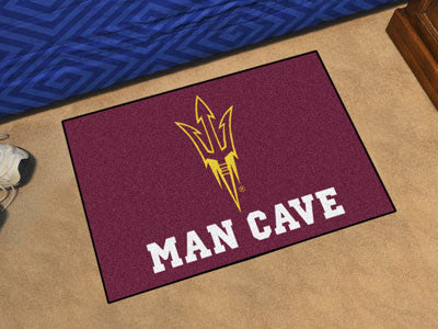 "NCAA Officially licensed Arizona State University Man Cave Starter 19""x30"" Celebrate your fandom with a Man Cave mat from Sp"