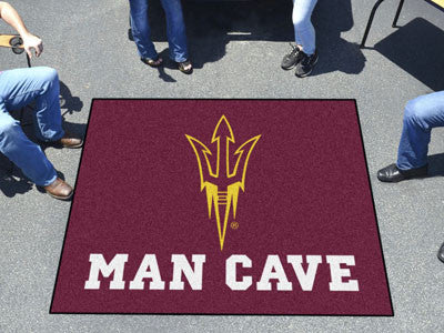"NCAA Officially licensed Arizona State University Man Cave Tailgater 59.5""x71"" Celebrate your fandom with a Man Cave mat fro"