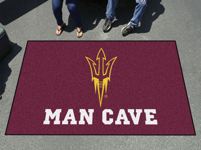 "NCAA Officially licensed Arizona State University Man Cave UltiMat 59.5""x94.5"" Celebrate your fandom with a Man Cave mat fro"
