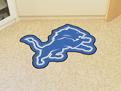 NFL Officially licensed products Detroit Lions Mascot Mat Looking for a unique rug to decorate your home or office with? Mas