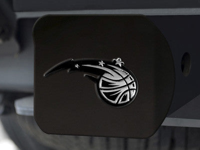 "NBA Officially licensed products Orlando Magic Black Hitch Cover 4 1/2""x3 3/8"" Keep your hitch clear of debris and let every"