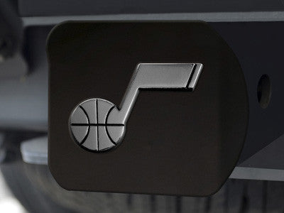 "NBA Officially licensed products Utah Jazz Black Hitch Cover 4 1/2""x3 3/8"" Keep your hitch clear of debris and let everyone"