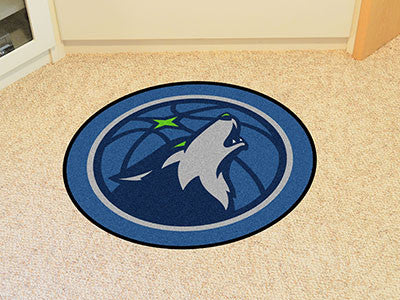NBA Officially licensed products Minnesota Timberwolves Mascot Mat Looking for a unique rug to decorate your home or office