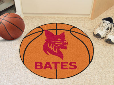 "NCAA Officially licensed Bates College Basketball Mat 27"" diameter Protect your floor in style and show off your fandom with"