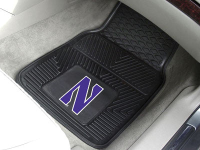 "NCAA Officially licensed Northwestern University 2-pc Vinyl Car Mat Set 17""x27"" Add style to your ride with heavy duty Vinyl"