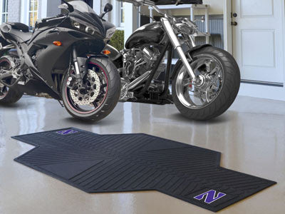 "NCAA Officially licensed Northwestern University Motorcycle Mat 82.5"" L x 42"" W Show off your team pride with Sports Licensi"