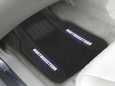 "NCAA Officially licensed Northwestern University Deluxe Mat 21""x27"" Deluxe Car Mats are perfect for anyone who is serious ab"