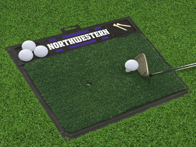 "NCAA Officially licensed Northwestern University Golf Hitting Mat 20"" x 17"" Work on your backswing while showing off your te"