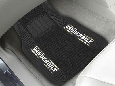 "NCAA Officially licensed Vanderbilt University Deluxe Mat 21""x27"" Deluxe Car Mats are perfect for anyone who is serious abou"