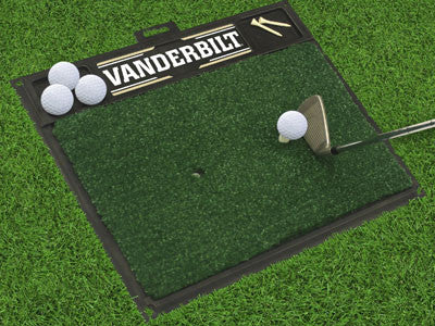 "NCAA Officially licensed Vanderbilt University Golf Hitting Mat 20"" x 17"" Work on your backswing while showing off your team"