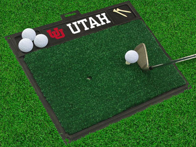 "NCAA Officially licensed University of Utah Golf Hitting Mat 20"" x 17"" Work on your backswing while showing off your team pr"