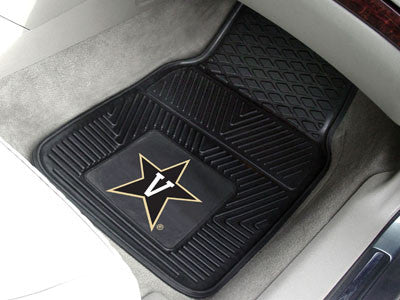 "NCAA Officially licensed Vanderbilt University 2-pc vinyl Car Mat Set 17""x27"" Add style to your ride with heavy duty Vinyl C"