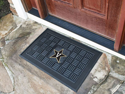 "NCAA Officially licensed Vanderbilt University Medallion Door Mat 19.5""x31.25"" Make a great first impression when guests com"