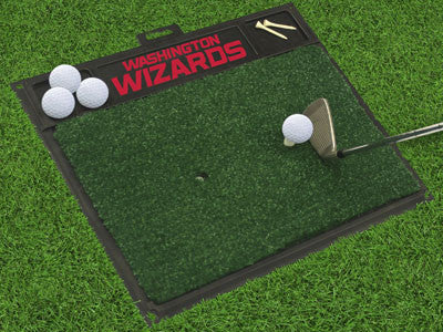 "NBA Officially licensed products Washington Wizards Golf Hitting Mat 20"" x 17"" Work on your backswing while showing off your"