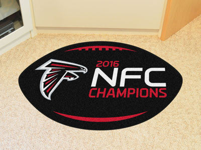 "NFL Officially licensed products Atlanta Falcons NFC Champions Football Rug 20.5""x32.5"" Protect your floor in style and show"