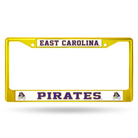 EAST CAROLINA GOLD COLORED CHROME FRAME Version 2