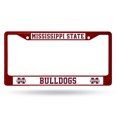 MISSISSIPPI STATE MAROON COLORED CHROME FRAME