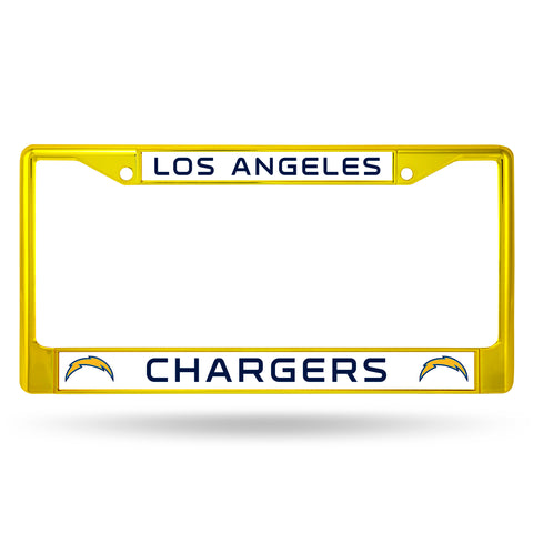 LOS ANGELES CHARGERS YELLOW COLORED CHROME SECONDARY FRAME