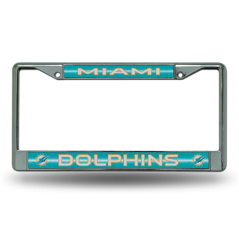 DOLPHINS BLING CHROME FRAME