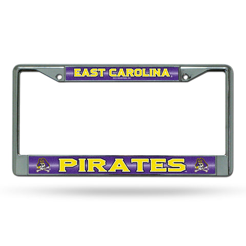 EAST CAROLINA BLING CHROME FRAME